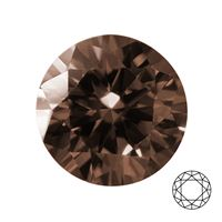 Kubický zirkon DIAMOND BROWN, pr. 1,00 mm